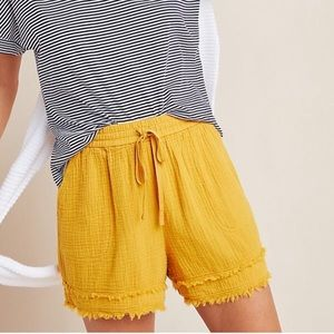 Anthropologie Frayed Trim Pocket Shorts!